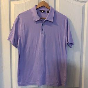 Black Brown purple polo shirt size medium